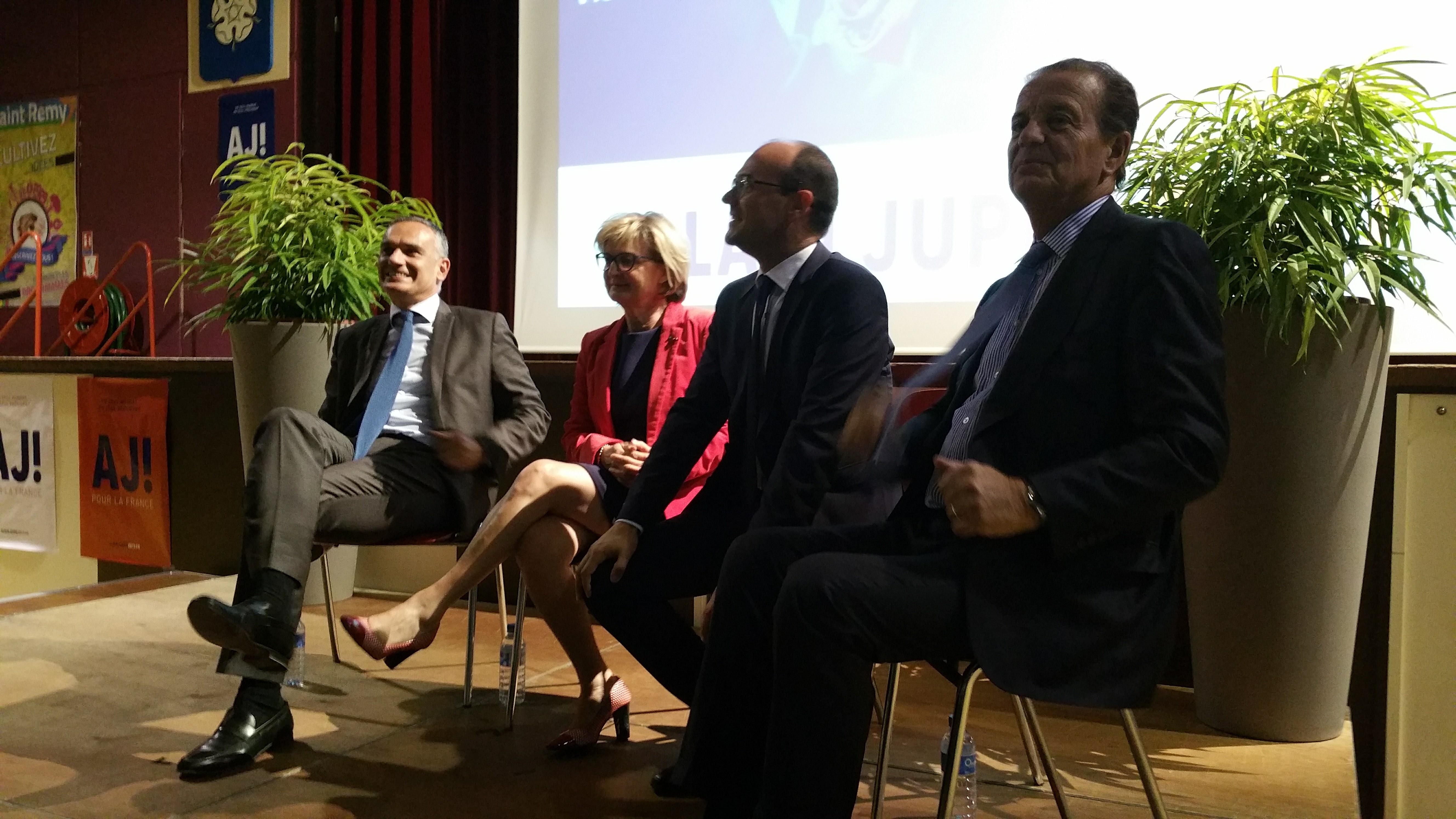 Arnaud Danjean, Marie-Claude Jarrot, Sébastien Martin et Dominique Perben
